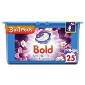 Bold 3in1 Pods Lavender & Camomile Washing Capsules 25 Washes 25 per Pack