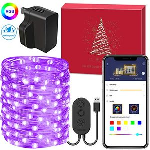 40% off 10 Meters Fairy Copper Wire Light 100 LEDs 8 Modes Timer & APP Control