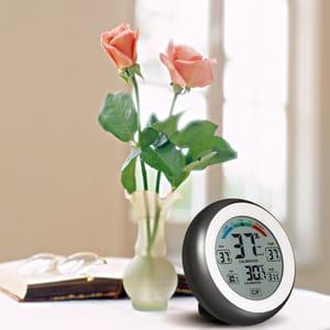 C/F Digital Thermometer Humidity Meter Max Min Value Trend Display