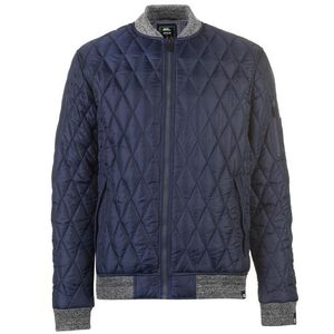 No Fear Quilted Bomber Jacket Men (Black or Navy)