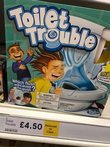 Toilet Trouble - Instore Tesco - Was £16 Now £4.50