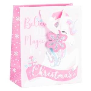 Festive Unicorn Gift Bag