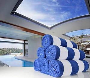 Sunshine Linens 100% Cotton Cabana Stripe Beach/Pool Towel (Pack of 1)