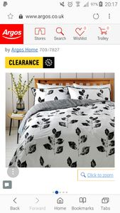 Argos- Artisan Leaf Double Bed Duvet Set