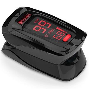 Pulse Oximeter Fingertip-iProven OXI-27 Black -Oxygen Monitor with Heart Monitor