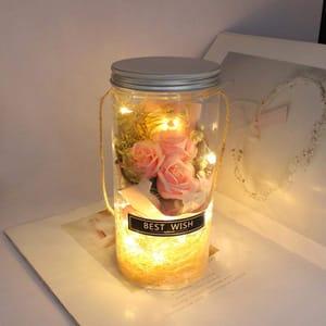 Rose Soap Flower Wishing Bottle Decoration Artificial Flowers on Amazon