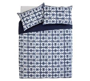 Argos Home Shibori Tile Bedding Set - Double