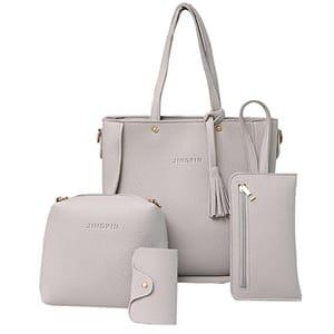 Big Promotion 4Pcs Luxury Women Tassels Wallet Card Holder HandBag Set