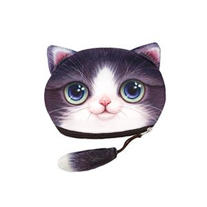 Funny Cat Face Soft Coin Purse FREE DELIVERY