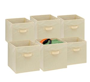 6Pcs Fabric Collapsible Storage Box