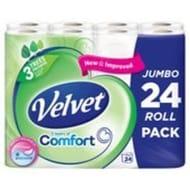Velvet Comfort Toilet Tissue 24 per pack