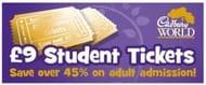 Cadbury World £9 Student Offer