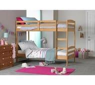 Josie Single Bunk Bed Frame - Natural Save £54