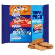 McVitie's Triple Pack 750g, digestives , hobnobs & rich tea