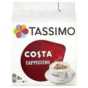 TASSIMO Costa Cappuccino coffee (Pack of 5, Total 80 discs/pods, 40 servings)