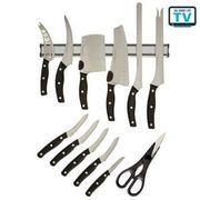 Miracle Blade 12-Piece Professional Chef's Knife Set Save £30 Free C+C