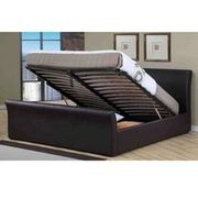 Boston Leather Doube Lift Up Storage Bed Save £130