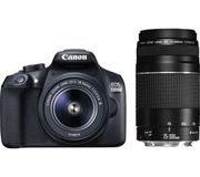 CANON EOS 1300D DSLR Camera + 75-300 mm  Lens Save £120 Free C+C