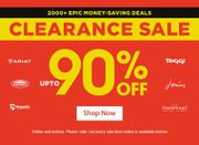 Clearance sale at Robinsons