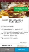 33% off food bill total with voucher cloud