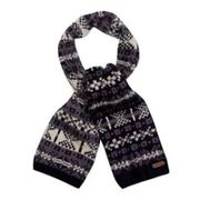 Debenhams Mantaray Mens Navy Jacquard Chunky Knit Scarf