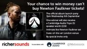 Win Newton Faulkner tickets and a Cambridge Audio Yoyo speaker at Richer Sounds
