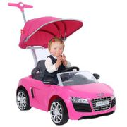 Avigo Audi Push Buggy Car with Canopy in Pink