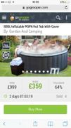 930L Inflatable MSPA Hot Tub With Cover