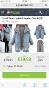2-in-1 Denim Jacket & Hoodie - Sizes 8-28!