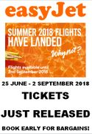 Easyjet Summer 2018 Tickets Just Released