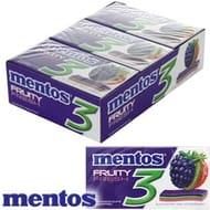 Mentos 3 Layer Gum:Blackberry Fruity Fresh (Case of 12 Packs)