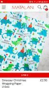 30 metres dinosaur Christmas wrapping paper 3 for 2