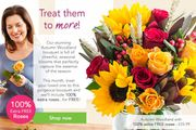 100% extra free roses Autumn Woodland Bouquet