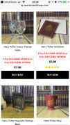 HARRY POTTER GIFTS 3 for £18