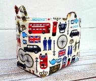ICONIC LONDON BAG Storage Organiser Box Small Home Decoration Cotton Basket