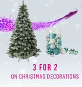 3 for the price of 2 on Christmas Decorations at Argos