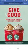 BOGOF on Festive Drinks 2pm - 5pm at Starbucks