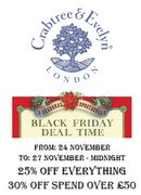 Crabtree & Evelyn - BLACK FRIDAY EVENT - 25% off EVERYTHING
