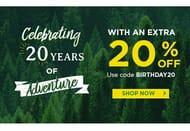 Mountain Warehouse 20th Birthday - Extra 20% off Today