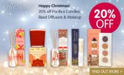 BigGreenSmile - 20% off Pacifica Candles, Reed Diffusers & Makeup