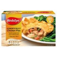 Birds Eye 4 Shortcrust Chicken Pies 620g