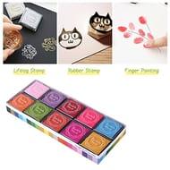 ULTNICE Fingerprint Ink Pad Multi-Colored Stamp Pad for Kids DIY ,20pcs