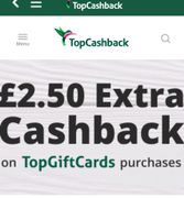 Get £2.50 Cashback for Topgiftcard Purchase of £10 or More!
