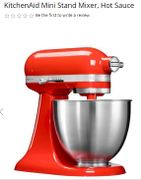 HURRY! ONLY 7 LEFT! KitchenAid Mini Stand Mixer, Hot Sauce