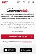 Free Side from KFC When You Sign up to the Colonels Club via the App
