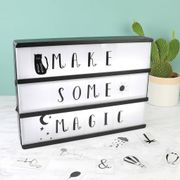 A4 Wooden LED Light Box with Letters