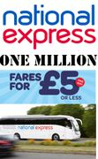 National Express Coaches - 1 Million Fares for £5 or Less
