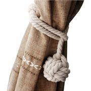 NUOLUX Hand Knitting Curtain Rope Rural Cotton Rope Tie Band