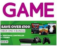 Xbox One X + GOW UE +Halo 5 +PlayerUnknowns Battlegrounds +Wireless Controller