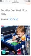 Toddler Car Seat Play Tray